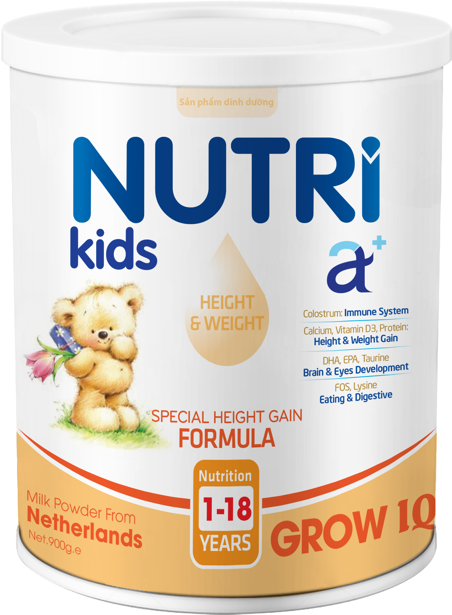 NUTRI KIDS A+ GROW IQ 900g