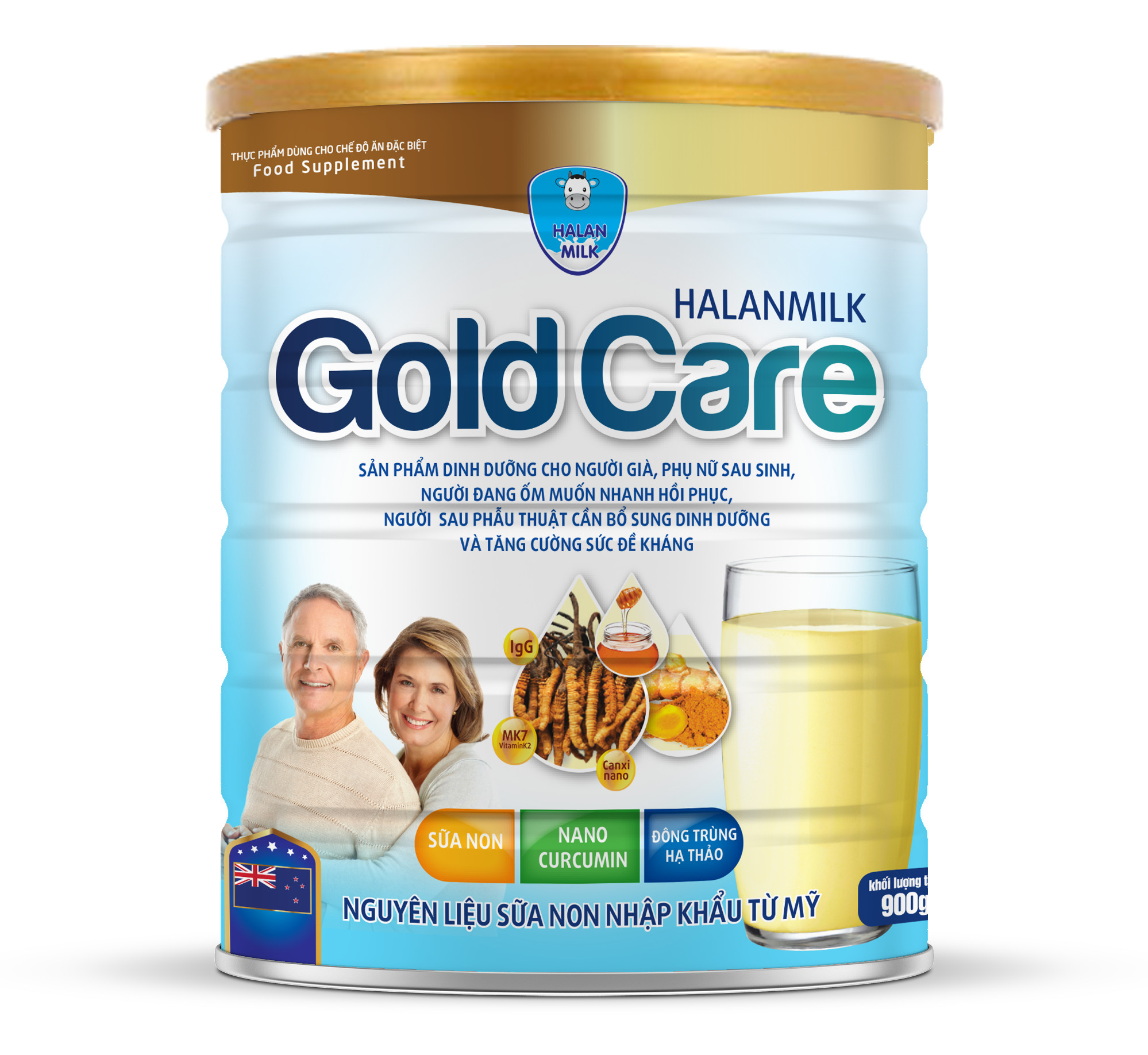 HALANMILK GOLD CARE 900g