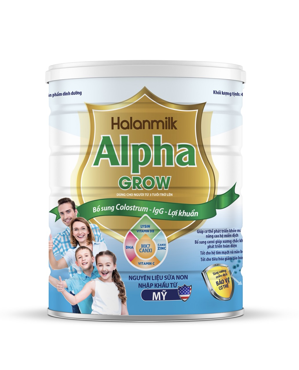 HALANMILK  ALPHA GROW 400gr