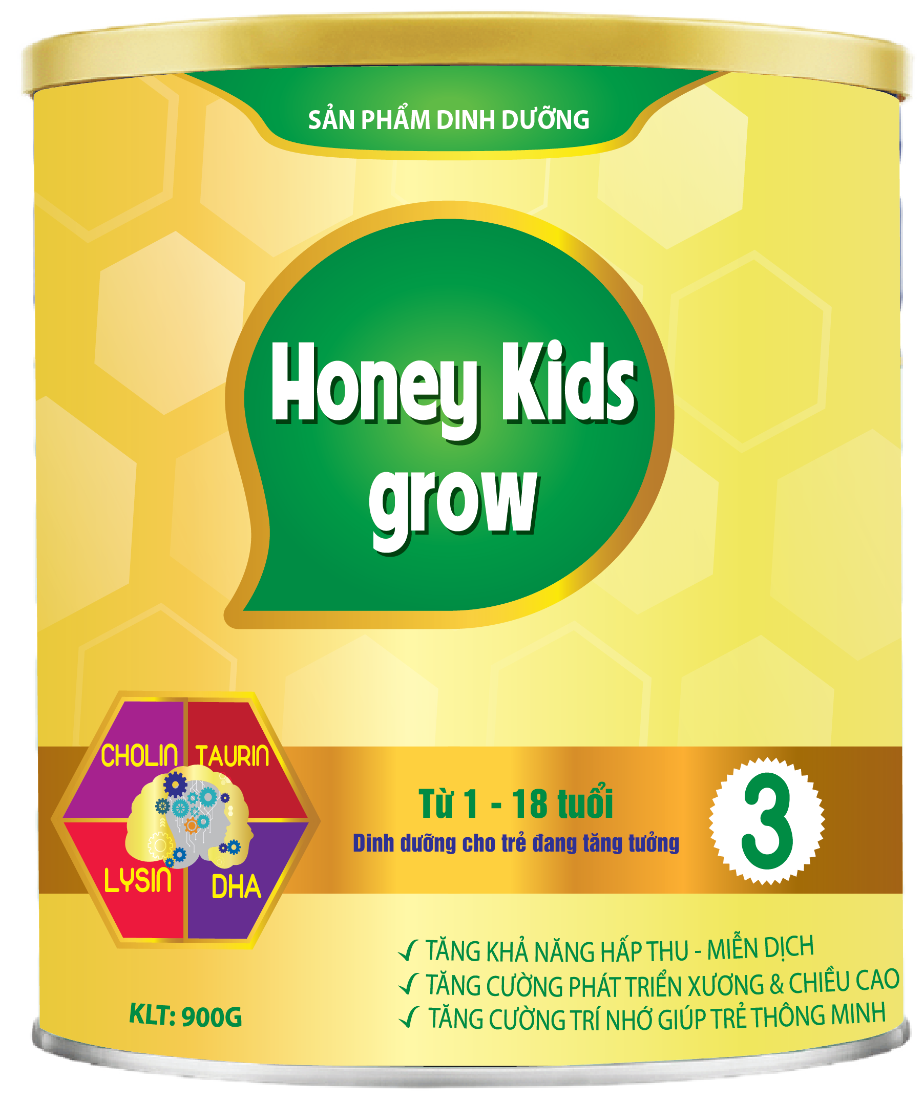 HONEY KIDS GROW PLUS 900gr